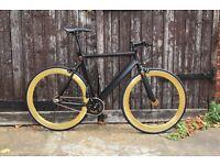 GOKU CYCLES Aluminium Alloy Frame Single speed road TRACK bike fixed gear racing bike a77