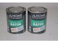 "Quick dry satin paint 750ml ""stone"""