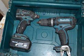 Makita 18V li-ion cordless drill set