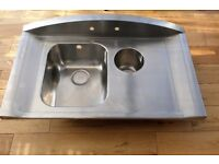 Bespoke kitchen sink with taps and fittings