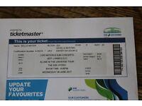 1 ticket for Jeff Lynns ELO Glasgow Hydro on Wed 28th jUNE