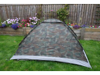 TENT 2 PERSON SINGLE SKIN DOME CAMOUFLAGE ULTRALIGHT