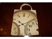 Stylish Clock Work Shopping Bag