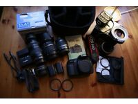 Canon DSLR 60D 18MP +17-50mm f2.8 Tamron+18-55mm f3.5-5.6 IS Canon+ 3 batteries and more