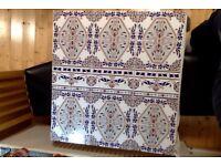 15 Moroccan Feature Piece Tiles, each tile 17cm x 27cm, Beautiful Vivid Colours!