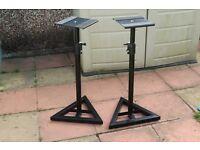 Pair of Adjustable Speaker Stands by Proel