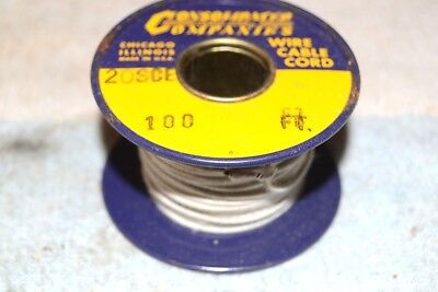 CONSOLIDATED WIRE CO NEW NOS 20SCE SINGLE COVERED ENAMEL AWG 20 SPOOL 54 feet