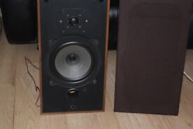 B&W 3 WAY SPEAKERS DM10 NO-19813 CAN BE SEEN WORKING