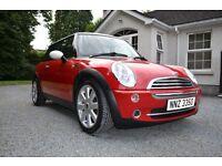 Mini Cooper 1.6 Petrol Red 3 Door 78954 Miles