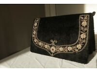 Black clutch bag