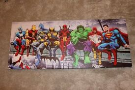Super Hero Canvases Pictures x3