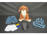 BUILD A BEAR TEDDY - PUPPY - WITH FULL OUTFIT. EXCELLENT CONDITION.