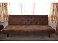 Fabric chaise lounge and sofa bed