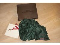 Luxury Louis Vuitton deep green Scarf /Shawl - brand new