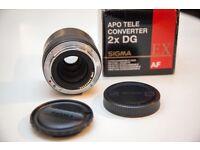 Sigma 70-200mm f2.8 EX DG OS HSM - Canon Fit and Sigma 2x EX DG APO Teleconverter Canon Fit