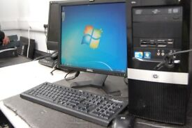 HP Pro 3130 i3 computer 17 inch screen. Keyboard & Mouse. Refurbished PC Desktop Computer