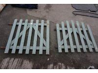 2 Garden Gates, painted wood