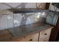Large glass tank, almost a metre long