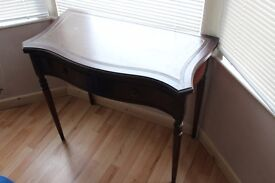 set of mahogany furniture desk chair and chest of drawers