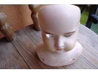 Antique Bisque Dolls Head