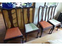 Set of 4 mahogany antique chairs