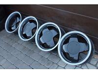 "15"" DEEP DISH alloys 4x100 VW Golf polo caddy corrado jetta bmw e30 mazda mx5 corsa astra civic"