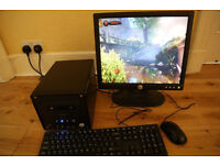 "Shuttle ""Glamour"" Small Form Factor PC & 17"" Dell Monitor, Dual Core, 2 x HDD, Radeon"