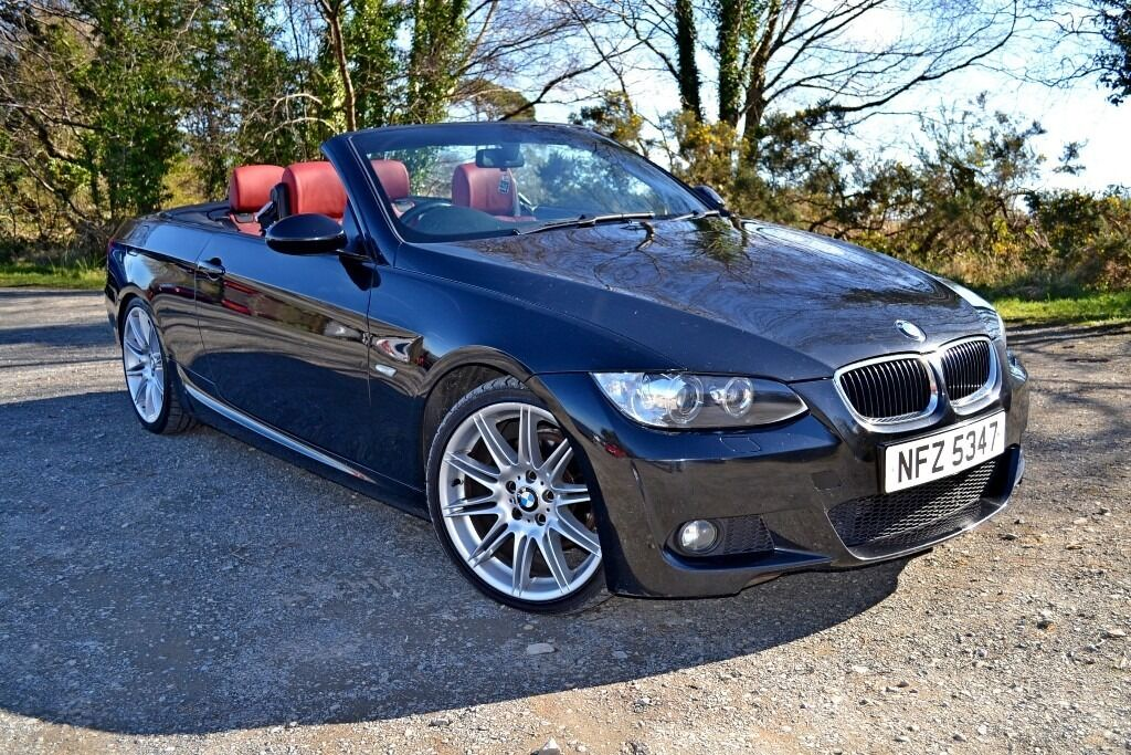 2008 bmw 320d m sport convertible hardtop full red leather e93 bargain in bangor county down. Black Bedroom Furniture Sets. Home Design Ideas