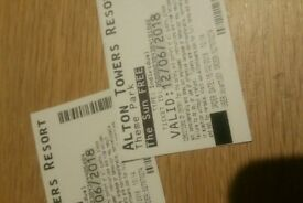2 alton tower tickets £20 both