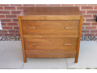 Vintage oak chest of 2 drawers