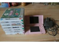 Nintendo ds lite and 6 games