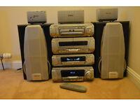 Technics Dv290 5 Dvd/Cd Loaders, 5 surrounding sound speakers Top Of The Range