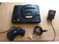 SEGA MEGADRIVE WITH GAME, CONTROLLER, POWER SUPPLY AND AV CABLE - EXCELLENT CONDITION