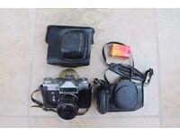 cannon eos 630 body and zenith e 35mm film cameras