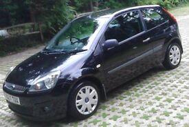 Black 07 REG Fiesta 1.2 Style Climate Zetec 3 Door, New MOT, Service History (Facelift Model)