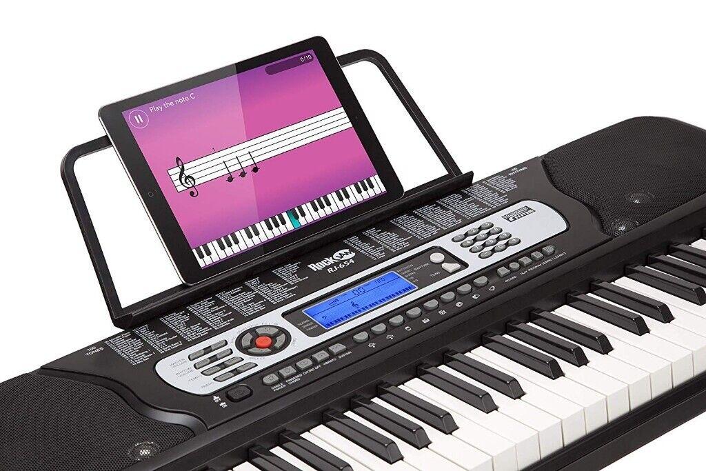 b509f0be35c rockjam 54 key portable digital piano keyboard RockJam 54-Key Portable Digital  Piano Keyboard with