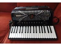 Sonola Sorbonne IV accordion, musette tuned, cased.