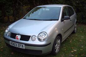 2003 VW Polo 5 door 1.2 Volkswagen MOT September 2018 'Drive Away' condition 90600 miles £950