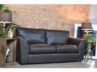 3 seater real leather sofa (can deliver)
