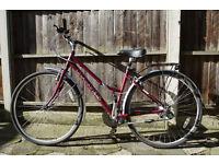 """VGC Dawes Kalahari Ladies Bike 19"""" frame, 25"""" wheels, Burgandy"""