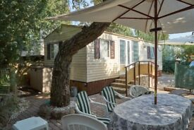 Mobile home near St Tropez Southern France for rent or SALE Secluded location, air conditioned 3 bed