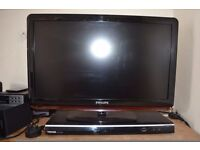 Phillips TV and Toshiba DVD player