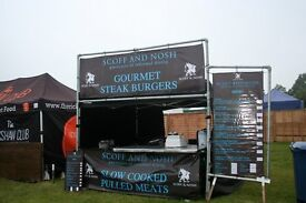 Staff for a street food unit this weekend in Essex