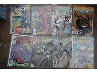 8 AMAZING SPIDERMAN COMICS INCUDING RELATED SPIDERMAN COMICS