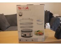 Tefal Simply Invents Food Steamer VC101616, Three Tier - Black and Chrome