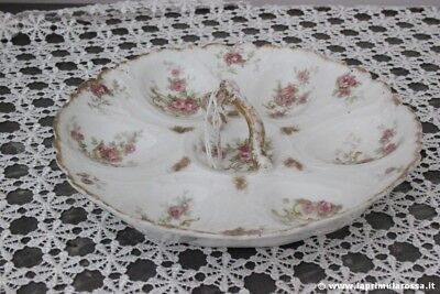 ANTICA CIOTOLA IN PORCELLANA CON MANICO  ANTIQUE CHINA HANDLED SERVING DISH BOWL
