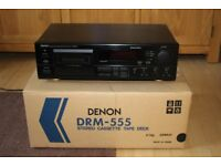 Denon drm-555 hifi cassette deck autoreverse, Dolby B, C HX Pro, extra gift
