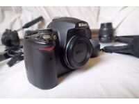 Nikon D5000 + 3 Lenses + Tripod + Steadicam + Accessories