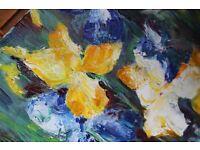 Iris flowers painting
