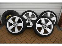 Skoda/Fabia Full set 5 Spoke Alloy Wheels low Profile with tyres and spare